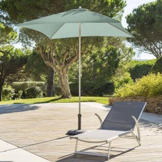 Parasol droit carré Anzio - L. 200 x l. 200 cm - Vert céladon