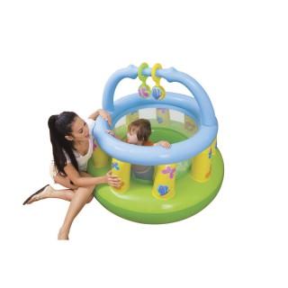 Parc de jeu gonflable Baby - Diam. 130 cm - Vert