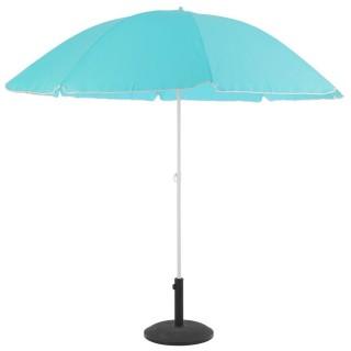 Parasol de plage rond Ardéa - Diam. 240 cm - Bleu ciel