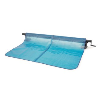 Enrouleur pour bâche à bulles - 2,74 / 4,88 m - Bleu