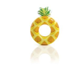 Bouée gonflable Ananas - Diam. 117 cm - Jaune