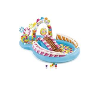 Parc de jeu gonflable Bonbons - L. 295 x l. 191 cm - Bleu