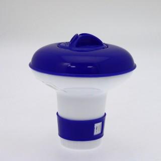 Diffuseur flottant de chlore - Diam. 12 cm - Bleu