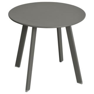 Table d'appoint de jardin Saona - Diam. 50 cm - Gris ardoise mat
