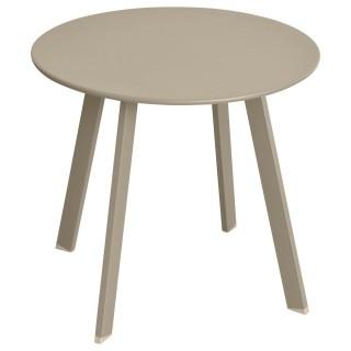 Table d'appoint de jardin Saona - Diam. 50 cm - Taupe