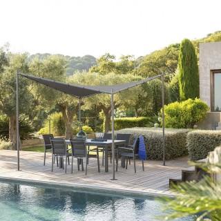 Tonnelle de jardin Certeli - L. 3 x l. 3 m - Gris