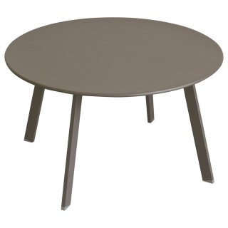 Table d'appoint de jardin Saona - Diam. 70 cm - Marron tonka