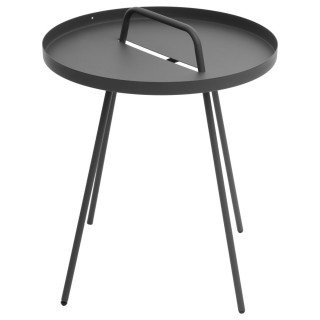 Table d'appoint de jardin Practico - Diam. 44 cm - Gris graphite