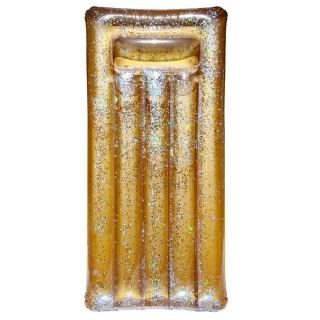 Matelas gonflable Paillettes - L. 181 cm - Doré