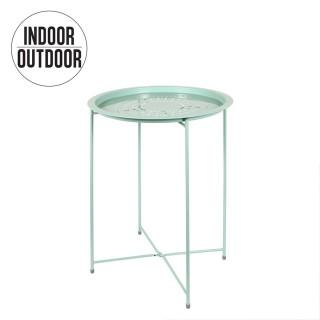 Table d'appoint ajourée Evy - Diam. 47 cm - Vert d'eau