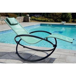 Transat rocking chair Mahé - Vert menthe