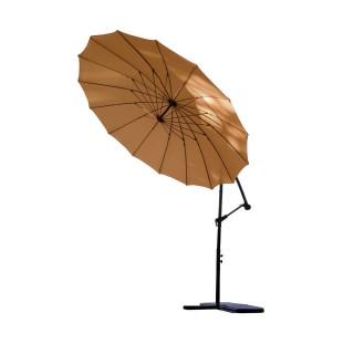 Parasol déporté rond Orfeas - Diam. 300 cm - Marron terracotta