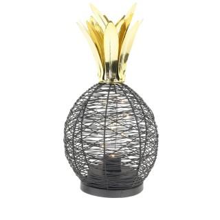 Lampe à poser led Ananas - Diam. 15 cm - Noir