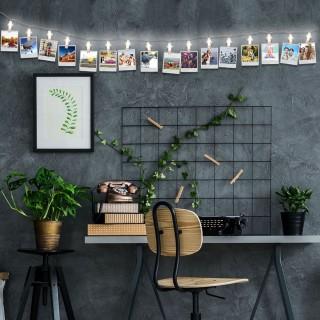 Guirlande lumineuse Clips Photos - L. 195 cm - Lumière chaude