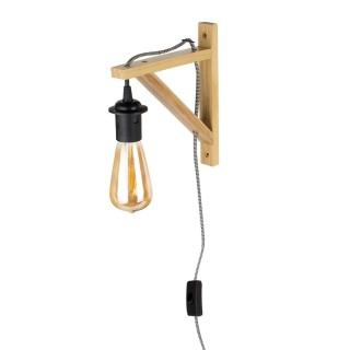 Applique luminaire indus Kloé - H. 22,5 cm - Marron naturel