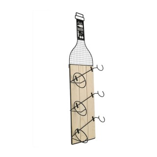 Porte bouteilles indus Bistrot - L. 21 x H. 83 cm - Noir