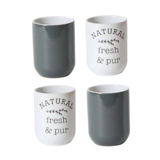 4 Tasses à expresso Little Market - Gris