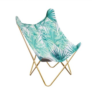 Fauteuil papillon tropical Jungle - Vert