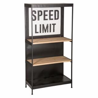 Etagère vintage Speed - L. 80 x H. 152 cm - Noir