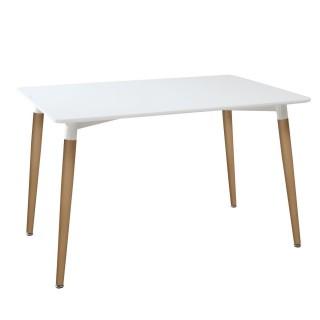 Table à manger scandi Roka - L. 150 x H. 74 cm - Blanc