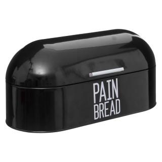 Boîte à pain en métal Bread - L. 43 x H. 20 cm - Noir