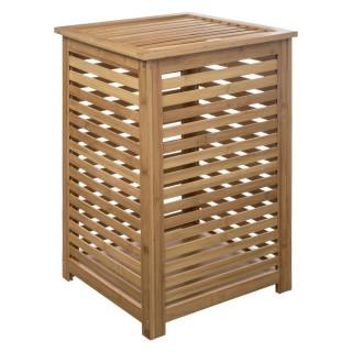 Panier à linge en bambou Sicela - L. 40 x H. 58 cm - Marron
