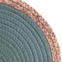 Set de table bord de mer Seagrass - Diam. 38 cm - Vert