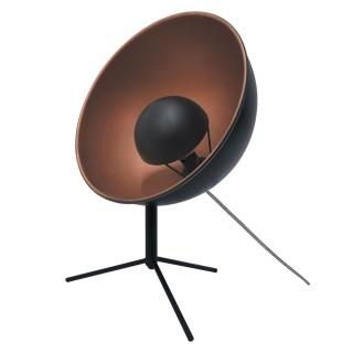Lampe trépied en métal Cinéma - H. 45 cm - Cuivre et noir