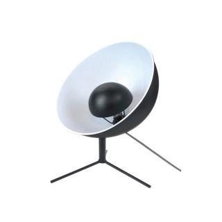 Lampe trépied en métal Cinéma - H. 45 cm - Blanc et noir