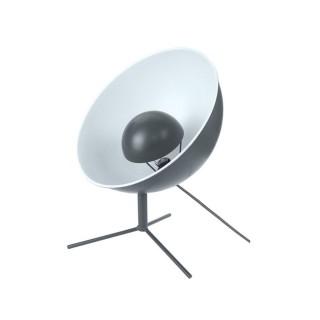 Lampe trépied en métal Cinéma - H. 45 cm - Blanc et gris