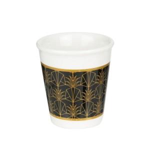 Tasse à expresso design Home déco - 70 ml - Noir