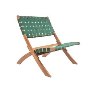 Chaise tropicale en bois Weave - Vert
