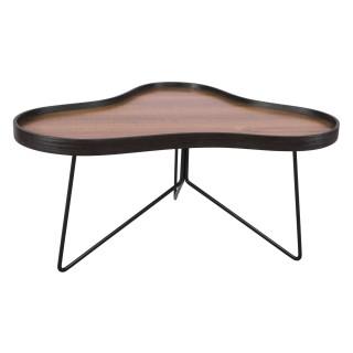 Table basse rétro Flow - L. 80 x H. 41 cm - Noir