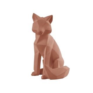 Statuette renard Origami - H. 26 cm - Marron