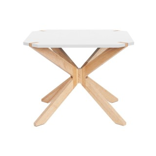 Table basse scandinave Miste - L. 60 x H. 40 cm - Blanc