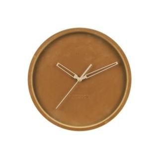 Horloge murale en velours Lush - Diam. 30 cm - Marron caramel