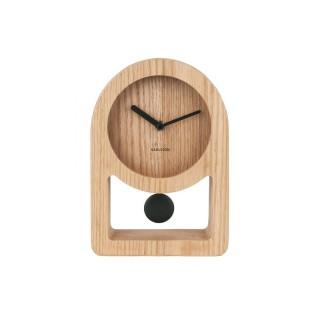 Horloge à poser avec balancier Lena - L. 17 x H. 25 cm - Noir