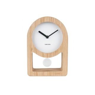 Horloge à poser avec balancier Lena - L. 17 x H. 25 cm - Blanc