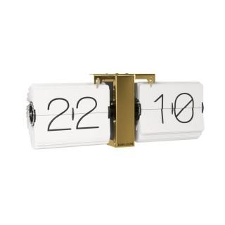 Horloge à poser vintage No Case - L. 36 x l. 14 cm - Blanc
