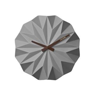 Horloge murale scandinave Origami - Diam. 27 cm - Gris