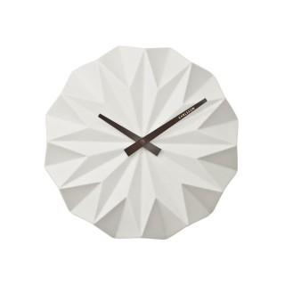 Horloge murale scandinave Origami - Diam. 27 cm - Blanc