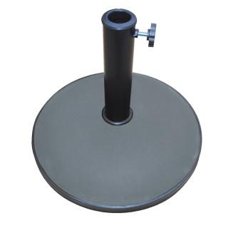 Pied de parasol rond en ciment - 25 kg - Gilbert