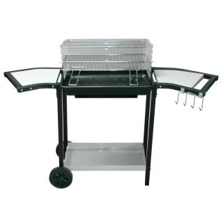 Barbecue à charbon avec desserte Tifo - L. 125 x H. 85 cm - Noir