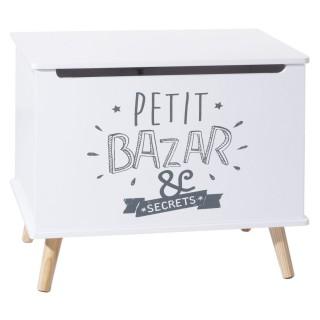 Coffre de rangement enfant Petit Bazar - L. 58 x H. 38 cm - Blanc