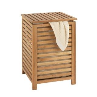 Panier à linge en bois Norway - L. 45 x H. 65 cm - Marron