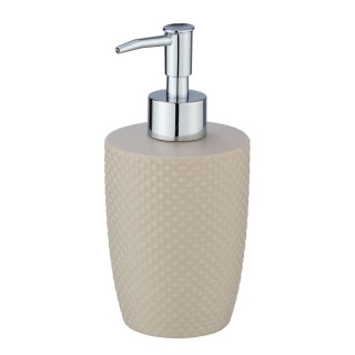 Distributeur de savon Punto - Céramique - Marron sable