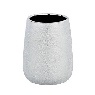 Gobelet de salle de bain design Glimma - Argent