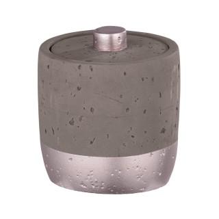 Pot de rangement salle de bain design Mauve - Gris rosé