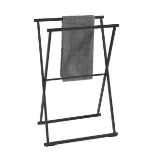 Porte-serviettes pliable indus Lava - L. 53 x H. 80 cm - Noir