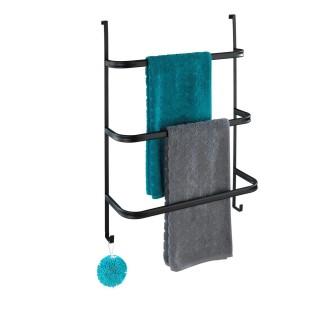 Porte-serviettes de porte design Irpinia - L. 54 x H. 77 cm - Noir